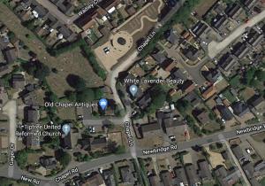 Map showing location of Memorial Garden